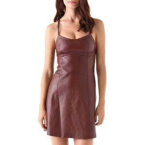 T by Alexander Wang 100% Lambskin Leather Dress